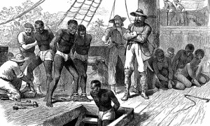 African captives being taken on board a slave ship. Photograph: Print Collector/Getty